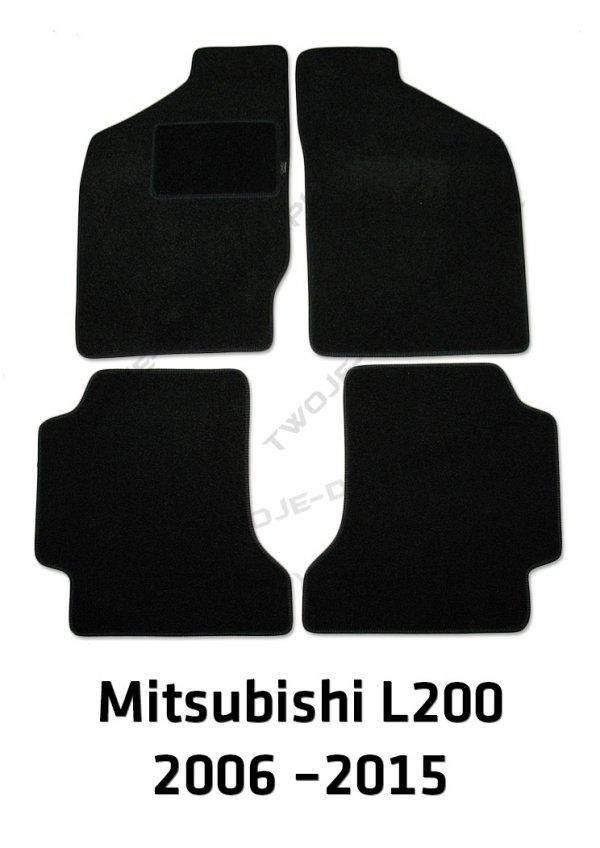 Dywaniki welurowe Mitsubishi L200