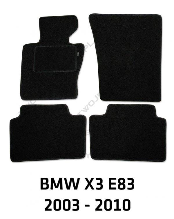 Dywaniki welurowe BMW X3