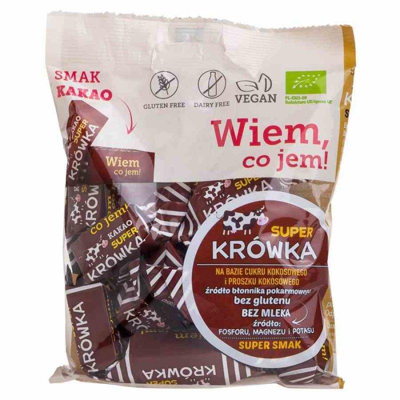 Krówki bezmleczne kakaowe bezglutenowe Super Krówka BIO, 150g