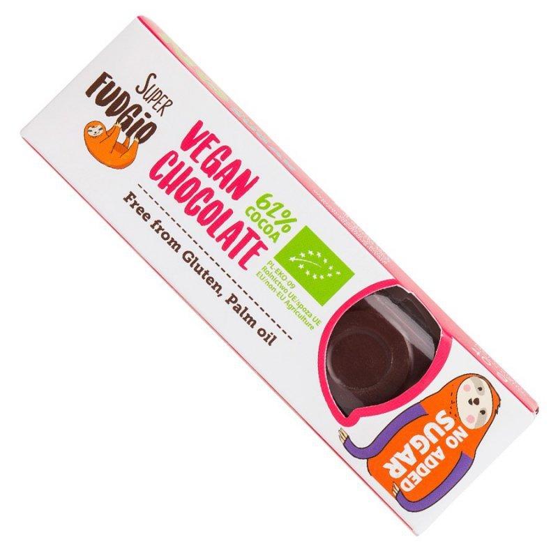 Czekoladowy baton o smaku kokosowym bez dodatku cukru Super Fudgio BIO, 40g