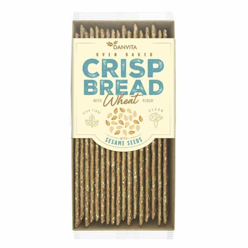 Płaskie chlebki pszenne z sezamem Danvita, 130g