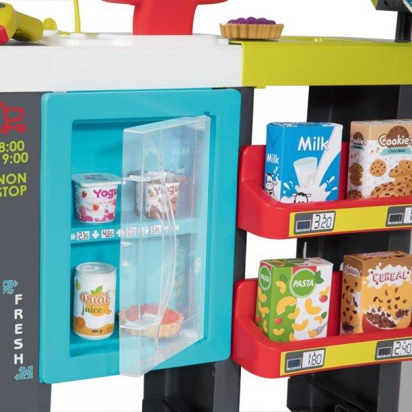 Smoby Supermarket sklep Maxi Market 50 akc. + wózek sklepowy