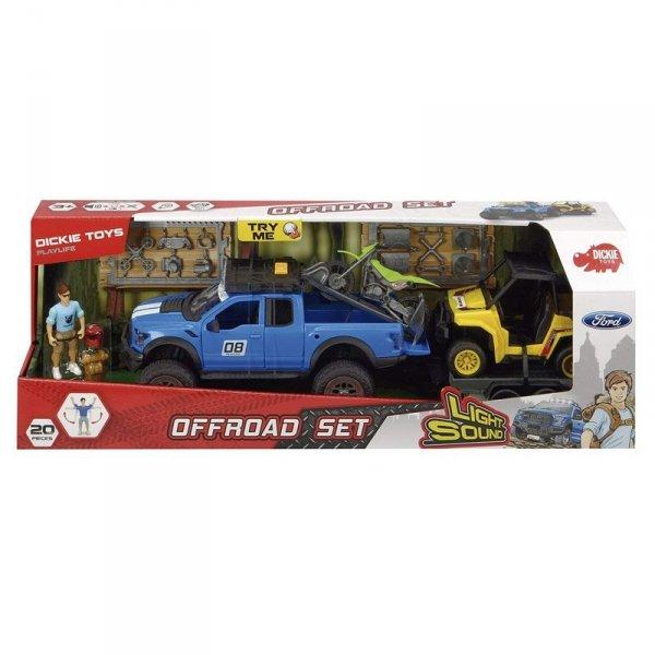 DICKIE Play Life Zestaw Offroad Samochód Quad Motor