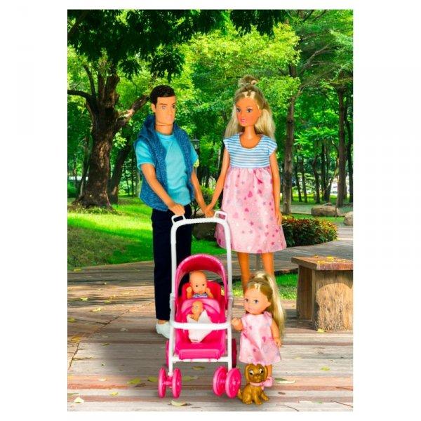 Simba Steffi Rodzina z Trojaczkami + Akcesoria