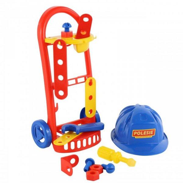 Zestaw Mechanik Wózek Kask 14 akcesoriów