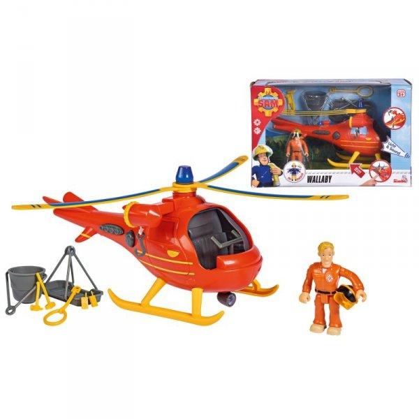 SIMBA Strażak Sam Helikopter Ratowniczy Wallaby + Figurka Tom Norman