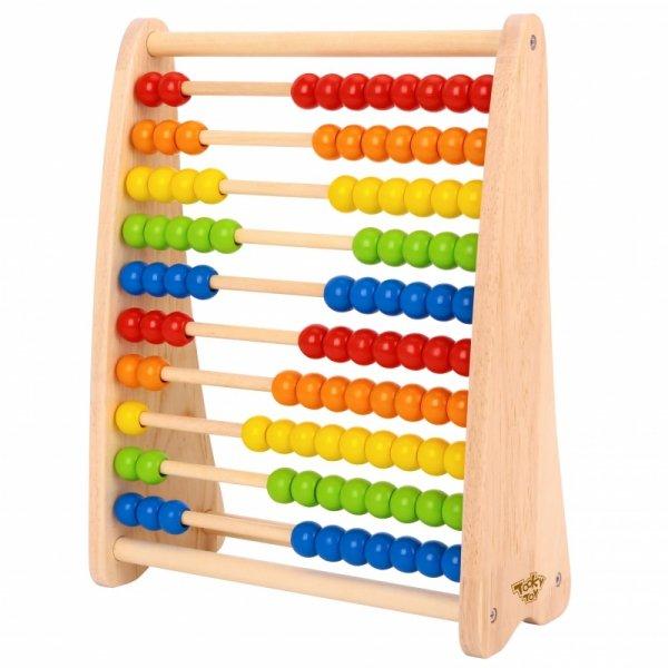 TOOKY TOY Duże Drewaniane Liczydło Edukacyjne Kolorowe