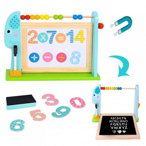 TOOKY TOY  Edukacyjna Tablica Na Biurko + 18 magnetycznych elementów