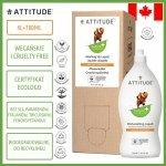 Attitude, Płyn do mycia naczyń, Skórka Cytrynowa (Citrus Zest), 700 ml + 4L