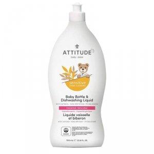 Attitude, Sensitive Skin Baby, Naturalny płyn do mycia butelek i naczyń dla niemowląt, 700 ml