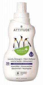 Attitude, Płyn do prania i płukania 2 w 1 Górska Świeżość (Mountain Essentials) 35 prań - 1040 ml