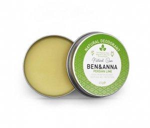 BEN and ANNA, Naturalny dezodorant w kremie PERSIAN LIME (aluminiowa puszka), 45g
