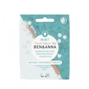 BEN and ANNA, Naturalne tabletki do mycia zębów bez fluoru, 36 g