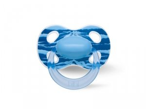 Bibi Swiss, Smoczek ortodontyczny uspokajający WILD BABY/niebieski (SIL) HAPPINESS