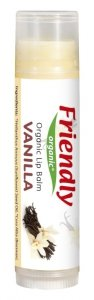 Friendly Organic, Organiczny balsam do ust Waniliowy, 4,25g