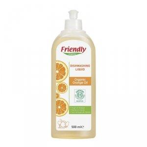 Friendly Organic, Płyn do mycia naczyń Pomarańczowy, 500 ml