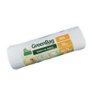 Worki 60L 100% biodegradowalne i kompostowalne rolka 10 sztuk