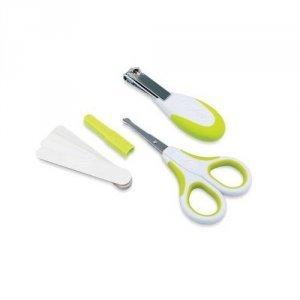 Zestaw kosmetyczny do paznokci - nożyczki, cążki i 5 pilniczków GREEN