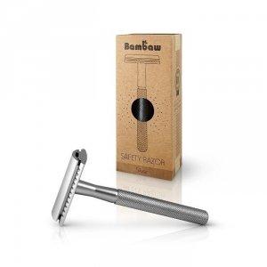Wielorazowa maszynka do golenia + żyletka SREBRNA