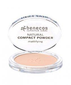 Benecos - Natural Compact Powder naturalny puder w kompakcie Piaskowy 9g
