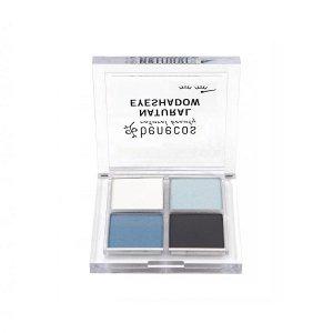 Benecos - Natural Quattro Eyeshadow paletka 4 naturalnych cieni do powiek True Blue 8g