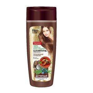 Fito cosmetics - Naturalny dziegciowy przeciwłupieżowy szampon do włosów wzmacniający 270ml