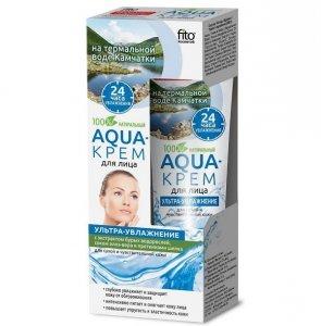 Fito cosmetics - Aqua krem do twarzy ultra nawilżenie cera sucha i wrażliwa Aloes i Proteiny Jedwabiu 45ml