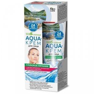Fito cosmetics - Aqua krem do twarzy głębokie odżywienie cera sucha i wrażliwa Dzika Roża i Cytryna 45ml
