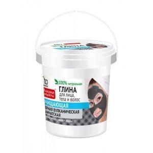 Fito cosmetics - Glinka czarna do twarzy i ciała oczyszczająca 155ml