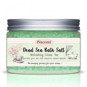Nacomi - Dead Sea Bath Salt sól do kąpieli z minerałami Morza Martwego Refreshing Green Tea 450g