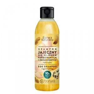 Barwa - Naturalna jajeczny regenerujący szampon do włosów farbowanych i zniszczonych 300ml