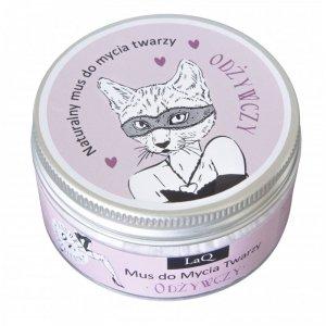 LaQ - Naturalny mus do mycia twarzy odżywczy Kocica 100ml