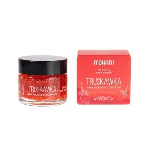 Mohani - Wygładzająco-odżywczy peeling do ust Truskawka 15ml