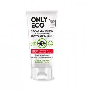 Onlyeco - Myjący żel do rąk o właściwościach antybakteryjnych Gliceryna + Aloes 50ml