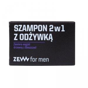 Zew for men - Szampon 2w1 z odżywką z węglem drzewnym z Bieszczad 85ml