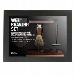 Zew for men - Wet Shaving zestaw maszynka do golenia + pędzel do golenia + miseczka + stojak na pędzel i maszynkę + mydło do golenia 85ml
