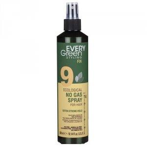 Every green - 9 Eco Hairspray No Gas Strong Hold ekologiczny lakier do włosów mocno utrwalający fryzurę 300ml