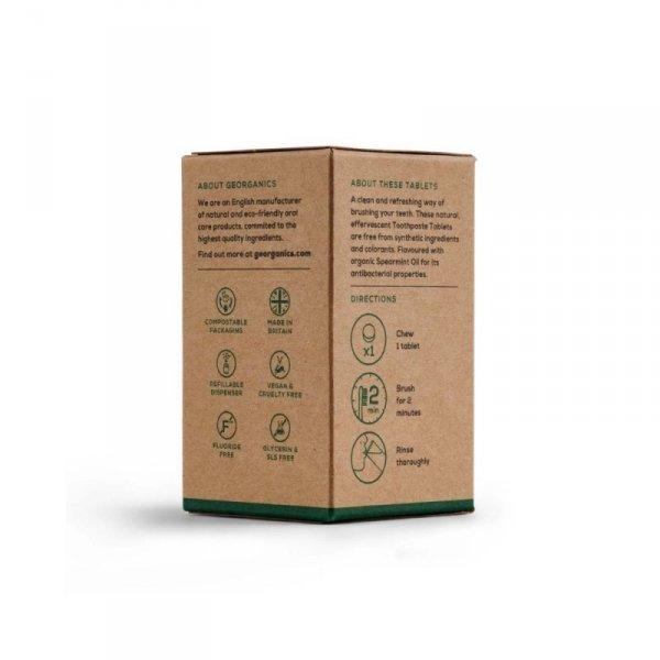 Georganics, Naturalne tabletki do mycia zębów, Spearmint, 120 tabletek