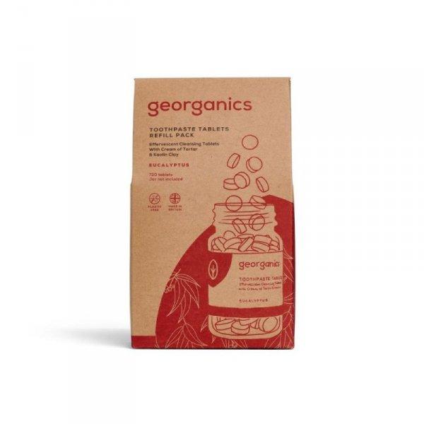 Georganics, Naturalne tabletki do mycia zębów, Eucalyptus, 720 tabletek