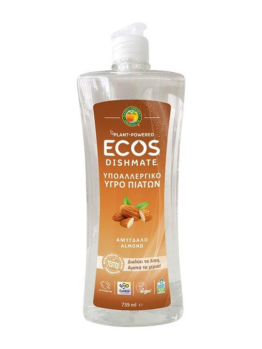 ECOS, Płyn do zmywania naczyń, migdał, 739ml