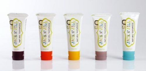Jack N'Jill, Naturalna Pasta do zębów, organiczny banan i Xylitol, 50g - KARTON, 6 szt.