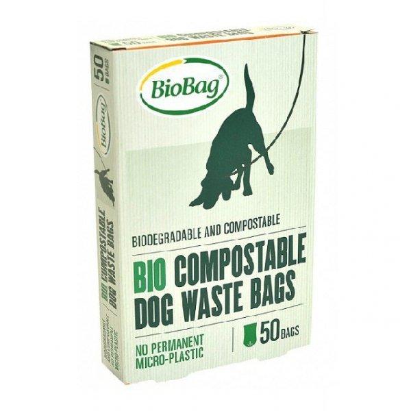 BIOBAG Worki BIOBAG DOG na psie odchody 100% biodegradowalne i kompostowalne, 20x32cm, 50 sztuk w kartoniku