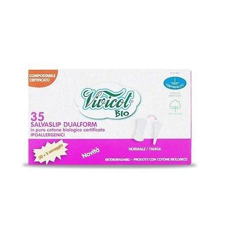 VIVICOT BIO Wkładki higieniczne DUALFORM, kompostowalne niebielone 35 sztuk