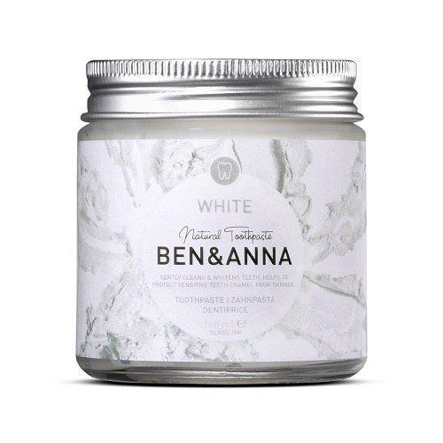 BEN & ANNA Naturalna wybielająca pasta do wrażliwych zębów SZAŁWIA I ROKITNIK 100ml