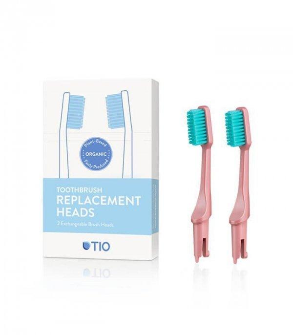 TIO Głowice do szczoteczki do zębów KORALOWIEC włosie miękkie biodegradowalne 100% składników roślinnych