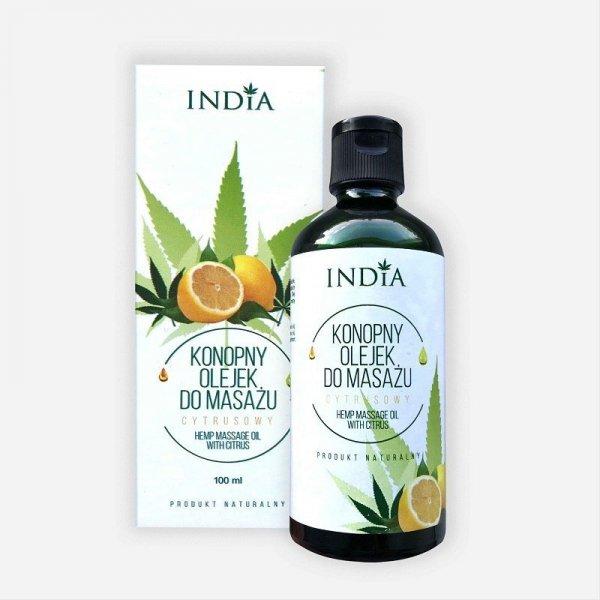 INDIA COSMETICS Konopny olejek do masażu Cytrusowy 100ml