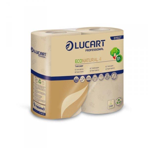 LUCART ECONATURAL Papier Toaletowy z recyklingu 4szt