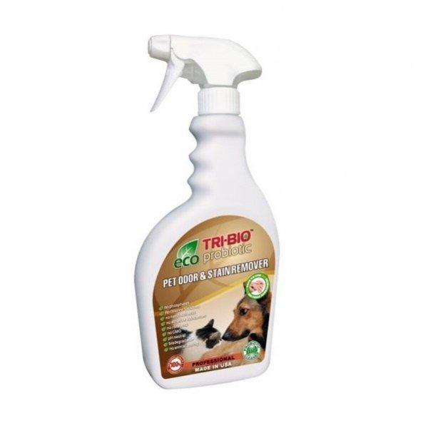 TRI-BIO Probiotyczny spray usuwający nieprzyjemne zapachy zwierząt i odplamiacz 2w1 420 ml