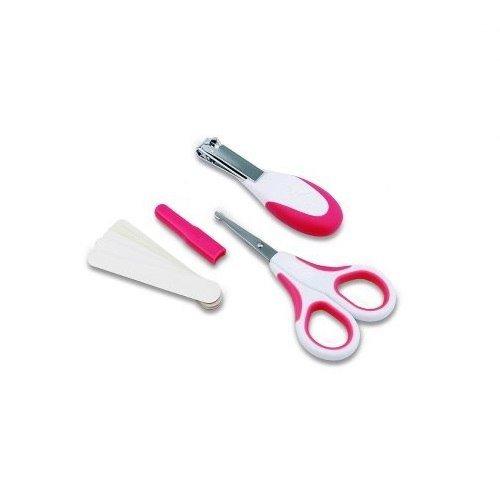 NUVITA Zestaw kosmetyczny do paznokci - nożyczki, cążki i 5 pilniczków PINK