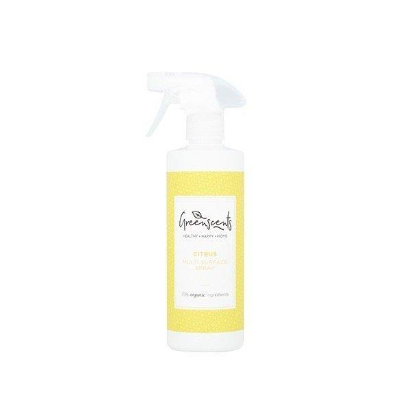 GREENSCENTS Hipoalergiczny skoncentrowany Spray do czyszczenia różnych powierzchni Certyfikowany CYTRUSOWY 500ml